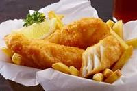 straight fish chips busy - 1